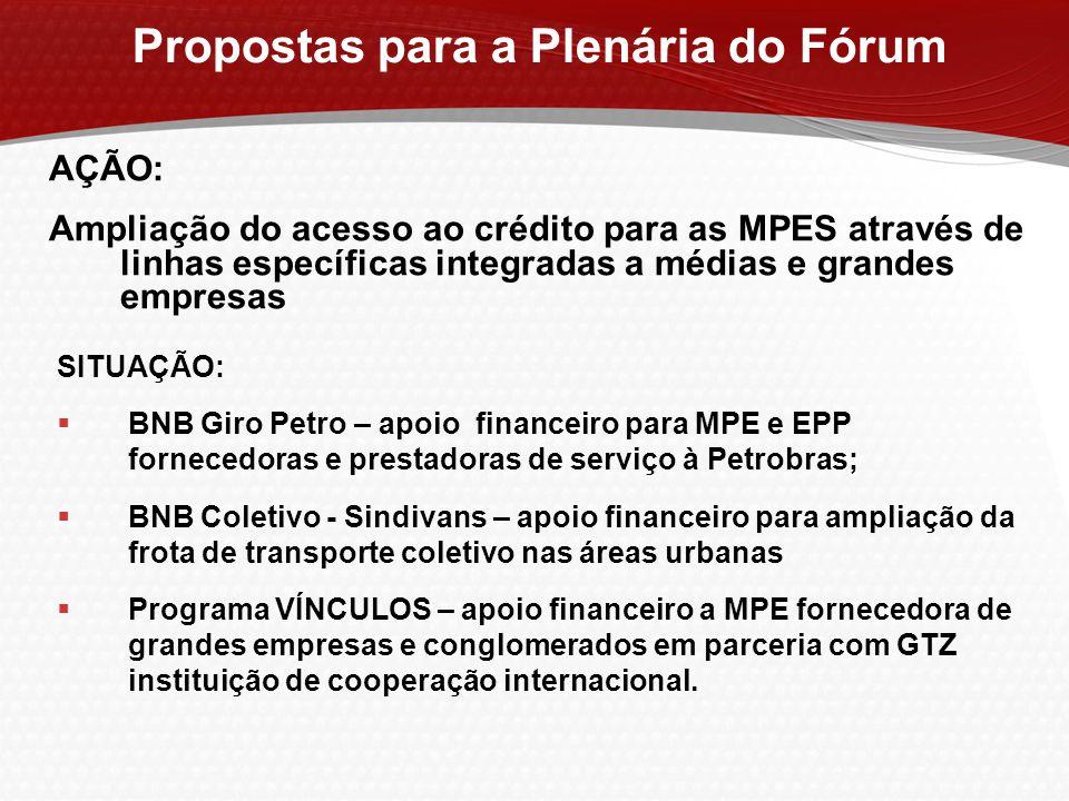 AÇÃO: Ampliação do acesso ao crédito para as MPES através de linhas específicas integradas a médias e grandes empresas SITUAÇÃO:  BNB Giro Petro – ap