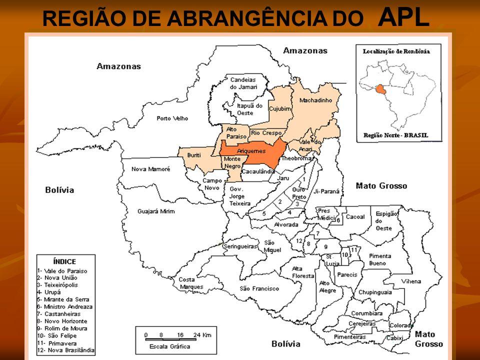 REGIÃO DE ABRANGÊNCIA DO APL