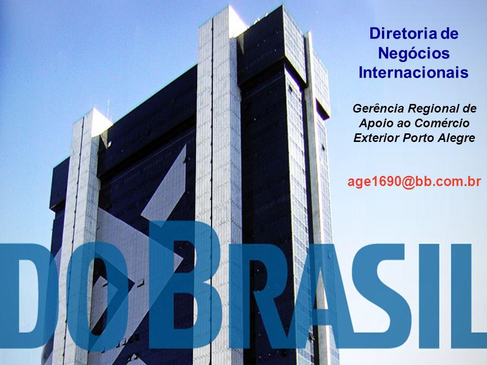 17 Diretoria de Comércio Exterior - DICEX Gerência de Negócios de Comércio Exterior - GENEX Divisão de Financiamento de Exportações - PROEX proex@bb.c
