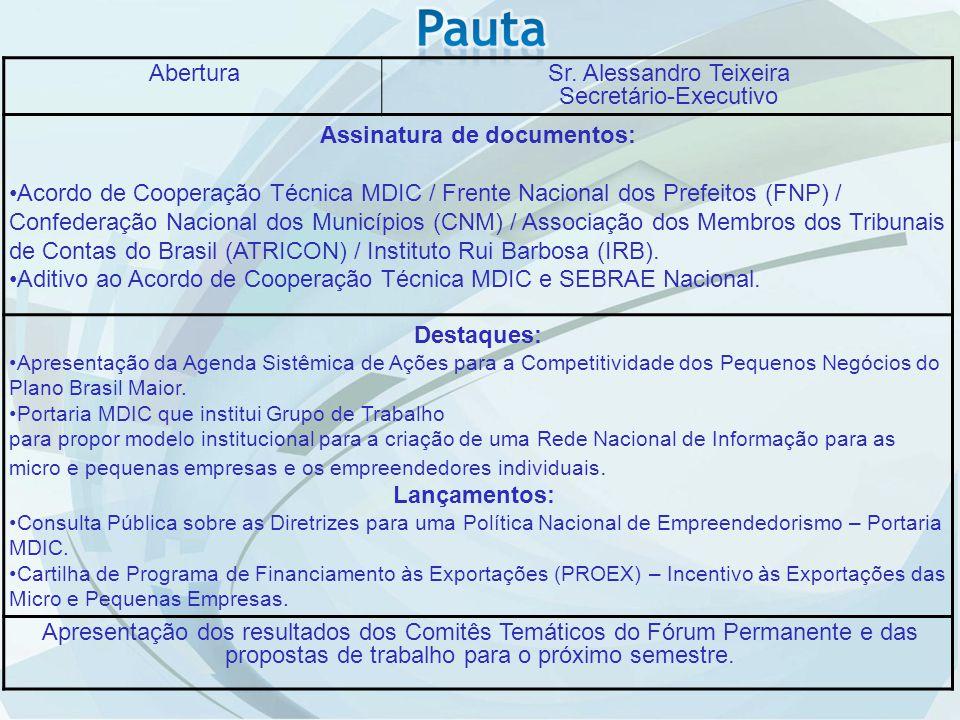 Comitê Desoneração e Desburocratização Status em 07/07/2012