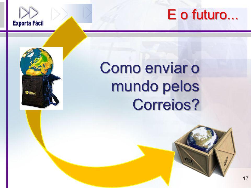 E o futuro... Como enviar o mundo pelos Correios? 17