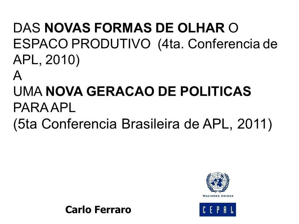 DAS NOVAS FORMAS DE OLHAR O ESPACO PRODUTIVO (4ta.