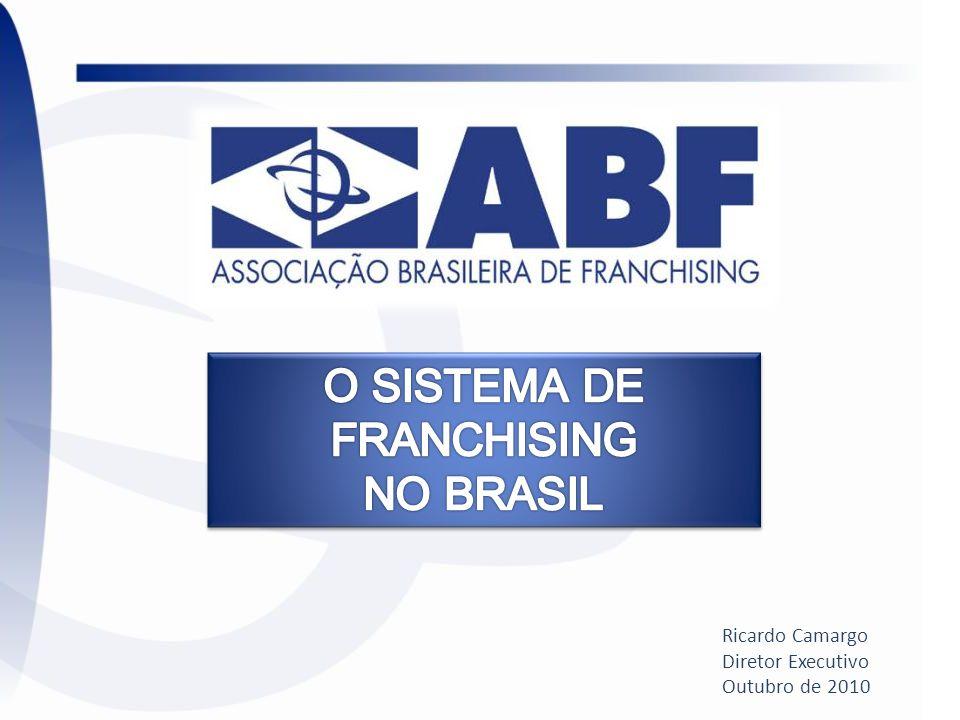 ATUAÇÃO DA ABF Fundada em 1987 (23 anos), possui sede própria em São Paulo; Atua para o desenvolvimento e fortalecimento do franchising brasileiro; Conta com 877 associados, divididos entre Franqueadores, Franqueados e Prestadores de Serviços; Realiza anualmente a ABF Franchising Expo, em São Paulo, a maior feira de franquias do Hemisfério Sul e a segunda do mundo (Paris); Prêmios para o setor: SEF, AFRAS e Design (RDI) Detém o Guia Oficial de Franquias, a Revista Franquia & Negócios e o Guia Internacional de Franquias; Detém o maior portal de franchising da América Latina: 130 mil visitas/mês; Realiza a Convenção Anual do Franchising.