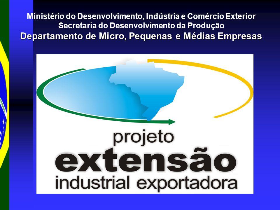 Ministério do Desenvolvimento, Indústria e Comércio Exterior Secretaria do Desenvolvimento da Produção Departamento de Micro, Pequenas e Médias Empresas