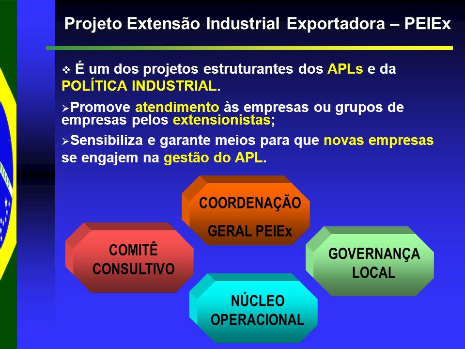   É um dos projetos estruturantes dos APLs e da POLÍTICA INDUSTRIAL.