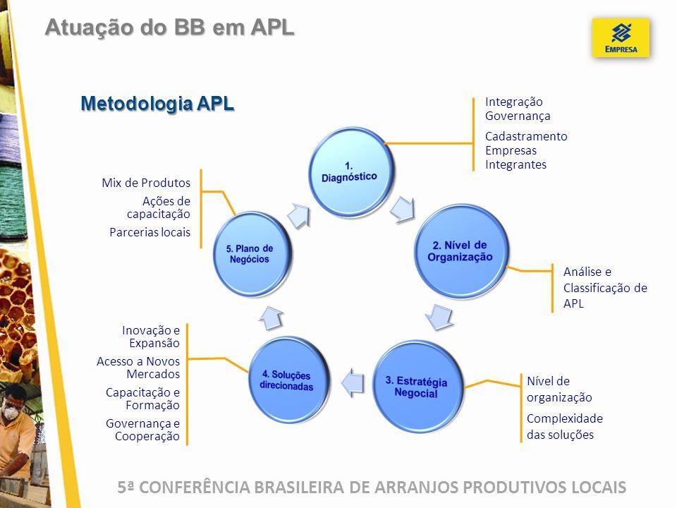 5ª CONFERÊNCIA BRASILEIRA DE ARRANJOS PRODUTIVOS LOCAIS Metodologia APL Inovação e Expansão Acesso a Novos Mercados Capacitação e Formação Governança