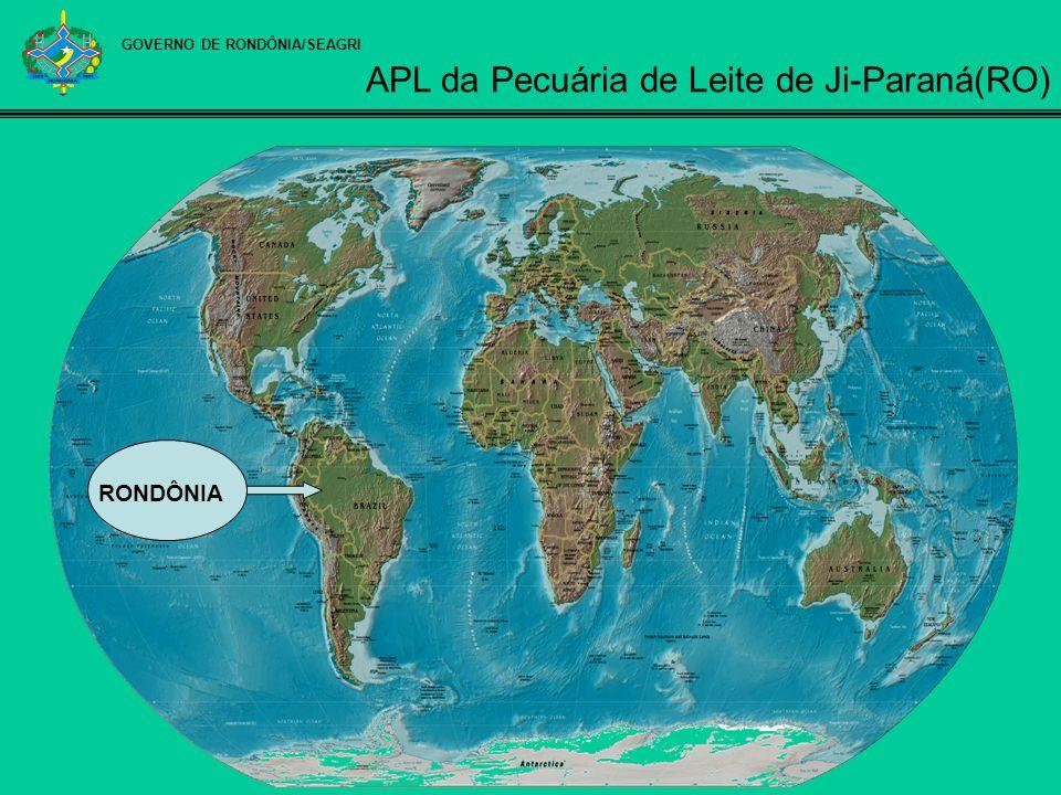 GOVERNO DE RONDÔNIA/SEAGRI Fonte: SIDRA (2007) Principais microrregiões rondonienses na produção de leite e variação anual da produção, 2000-2005.