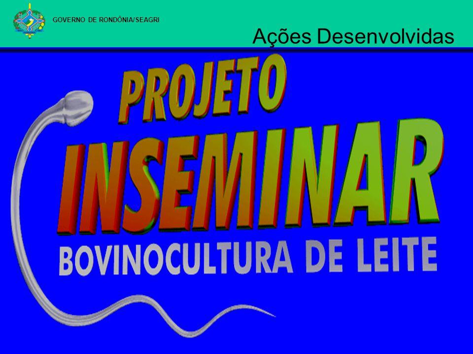 GOVERNO DE RONDÔNIA/SEAGRI Ações Desenvolvidas