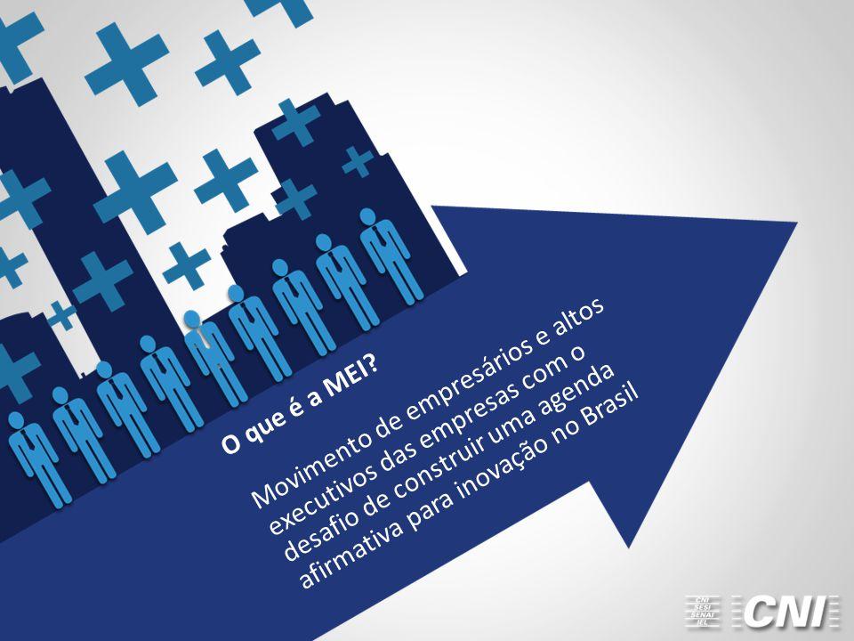 O que é a MEI? Movimento de empresários e altos executivos das empresas com o desafio de construir uma agenda afirmativa para inovação no Brasil