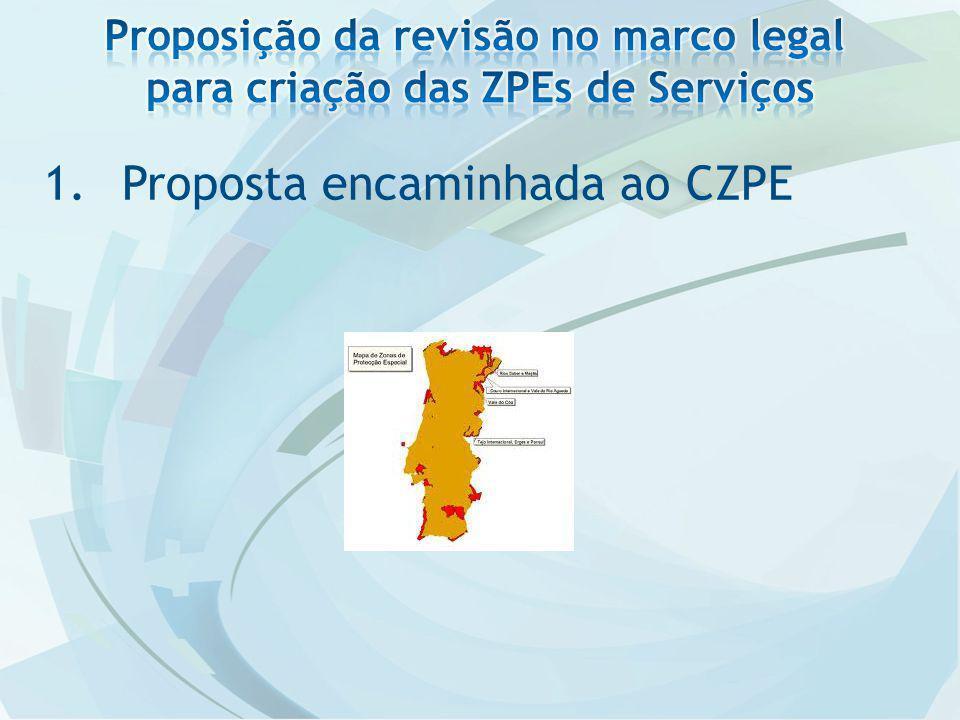 1.Proposta encaminhada ao CZPE