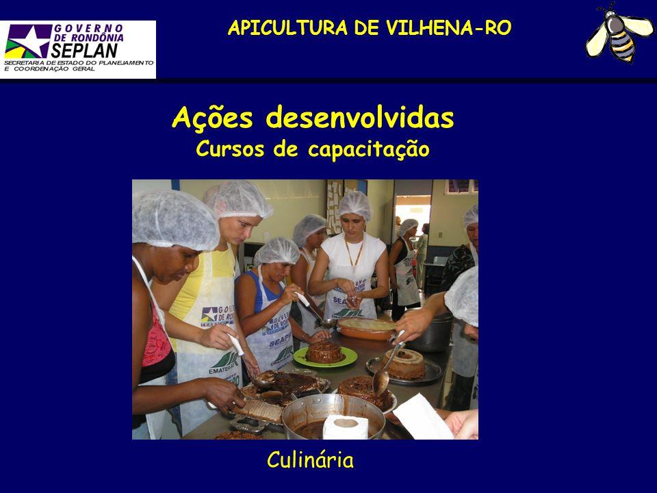 APICULTURA DE VILHENA-RO Ações desenvolvidas Cursos de capacitação Culinária