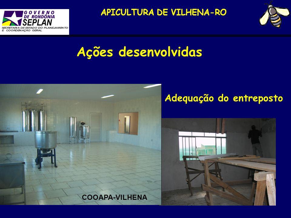 APICULTURA DE VILHENA-RO Ações desenvolvidas Adequação do entreposto COOAPA-VILHENA
