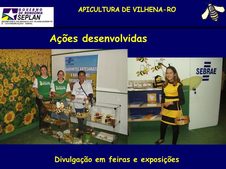 APICULTURA DE VILHENA-RO Divulgação em feiras e exposições Ações desenvolvidas
