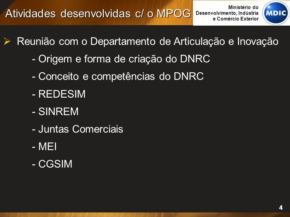 44  Reunião com o Departamento de Articulação e Inovação - Origem e forma de criação do DNRC - Conceito e competências do DNRC - REDESIM - SINREM - J