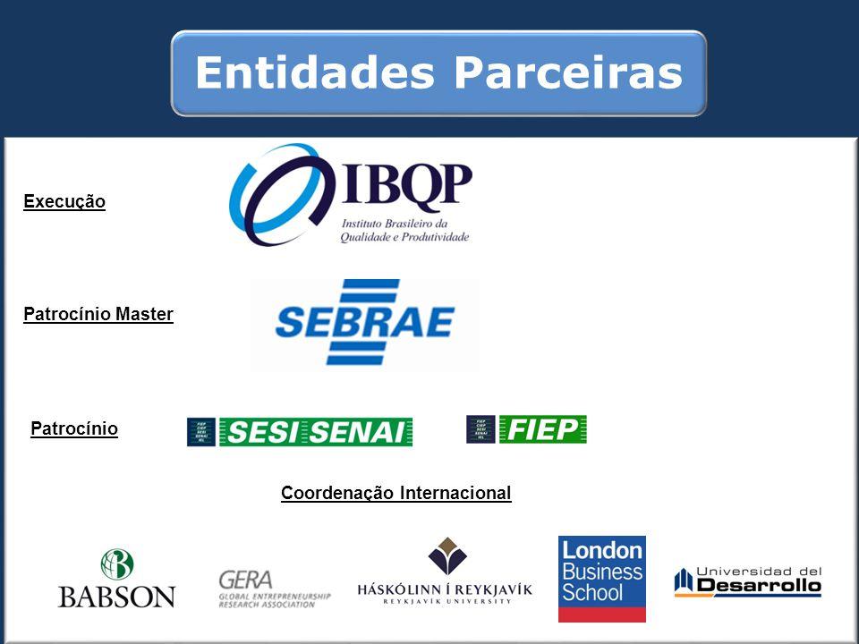 Entidades Parceiras Execução Patrocínio Master Patrocínio Coordenação Internacional
