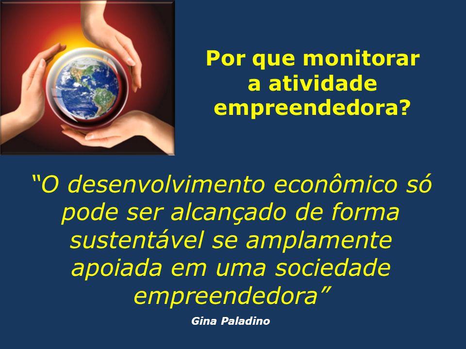 """""""O desenvolvimento econômico só pode ser alcançado de forma sustentável se amplamente apoiada em uma sociedade empreendedora"""" Gina Paladino Por que mo"""