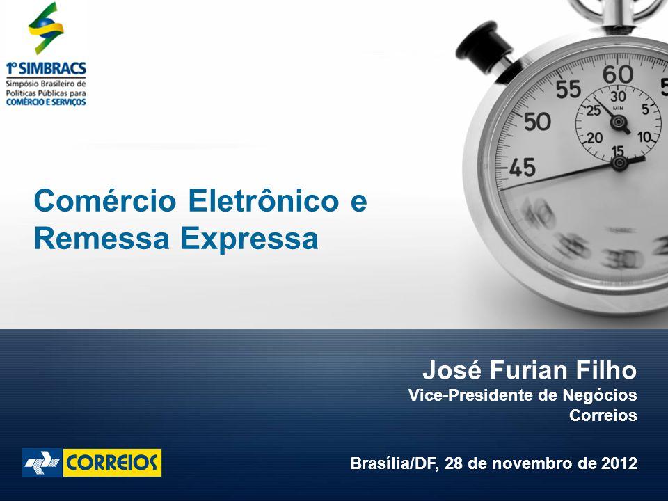 José Furian Filho Vice-Presidente de Negócios Correios Brasília/DF, 28 de novembro de 2012 Comércio Eletrônico e Remessa Expressa