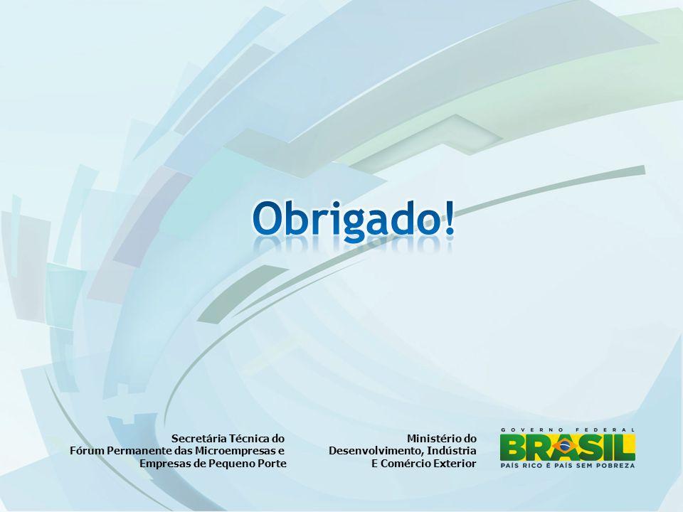Ministério do Desenvolvimento, Indústria E Comércio Exterior Secretária Técnica do Fórum Permanente das Microempresas e Empresas de Pequeno Porte