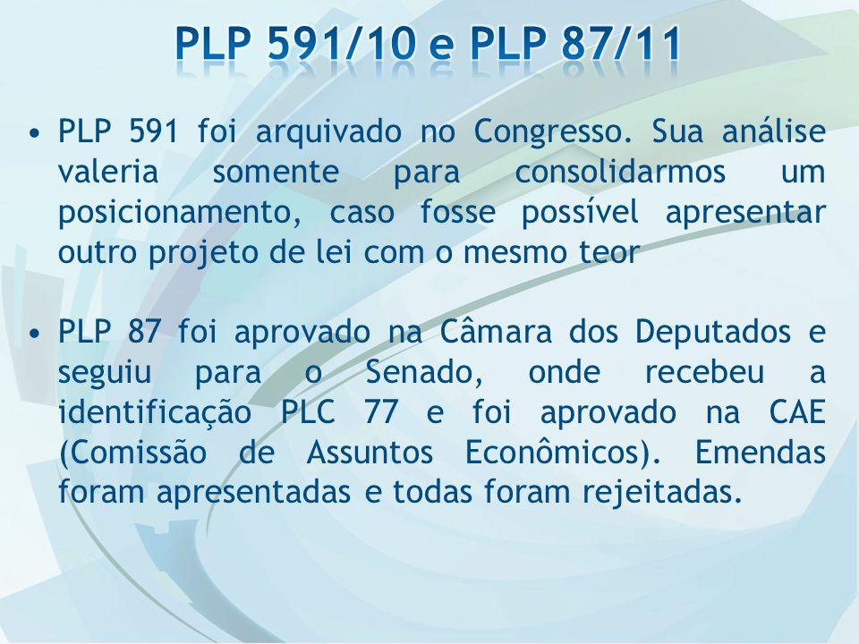 PLP 591 foi arquivado no Congresso.