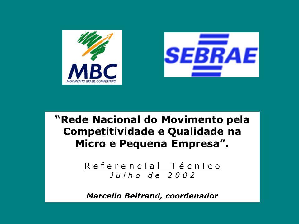 """""""Rede Nacional do Movimento pela Competitividade e Qualidade na Micro e Pequena Empresa"""". R e f e r e n c i a l T é c n i c o J u l h o d e 2 0 0 2 Ma"""