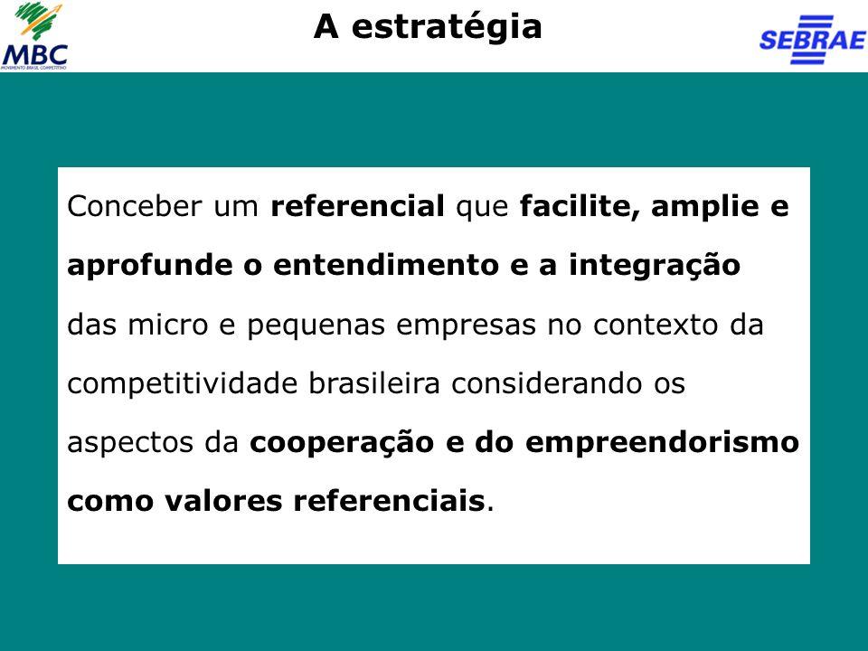 Conceber um referencial que facilite, amplie e aprofunde o entendimento e a integração das micro e pequenas empresas no contexto da competitividade br