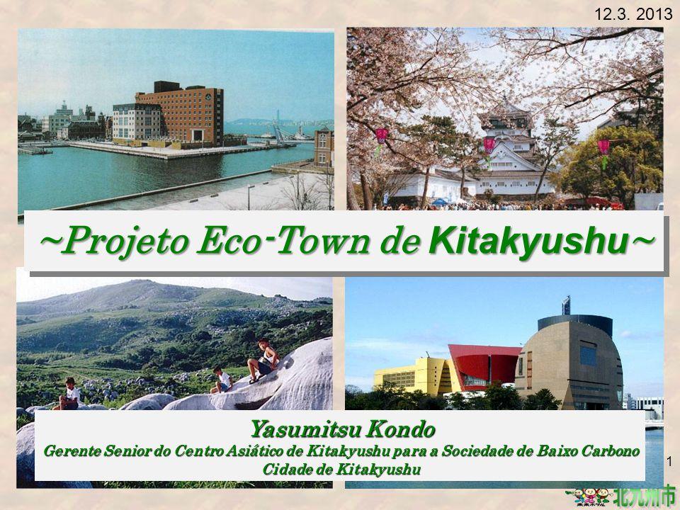 Resíduos após a reciclagem pelas companhias da Eco-Town, resíduos industriais, como fragmentados, são tratados e reciclados.