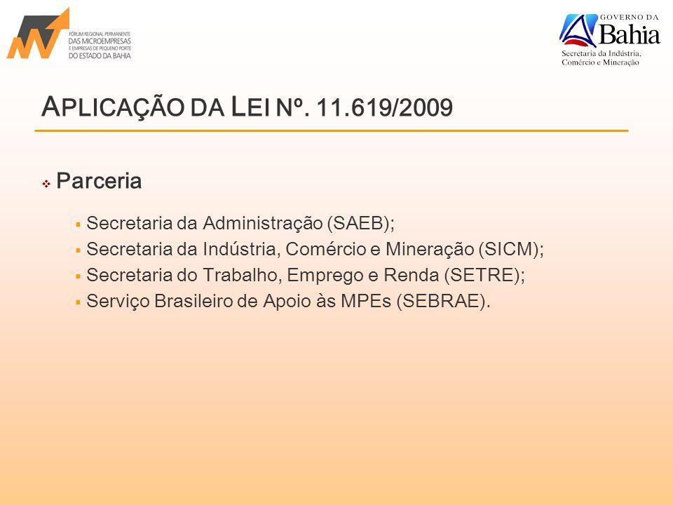 Parceria  Secretaria da Administração (SAEB);  Secretaria da Indústria, Comércio e Mineração (SICM);  Secretaria do Trabalho, Emprego e Renda (SETRE);  Serviço Brasileiro de Apoio às MPEs (SEBRAE).