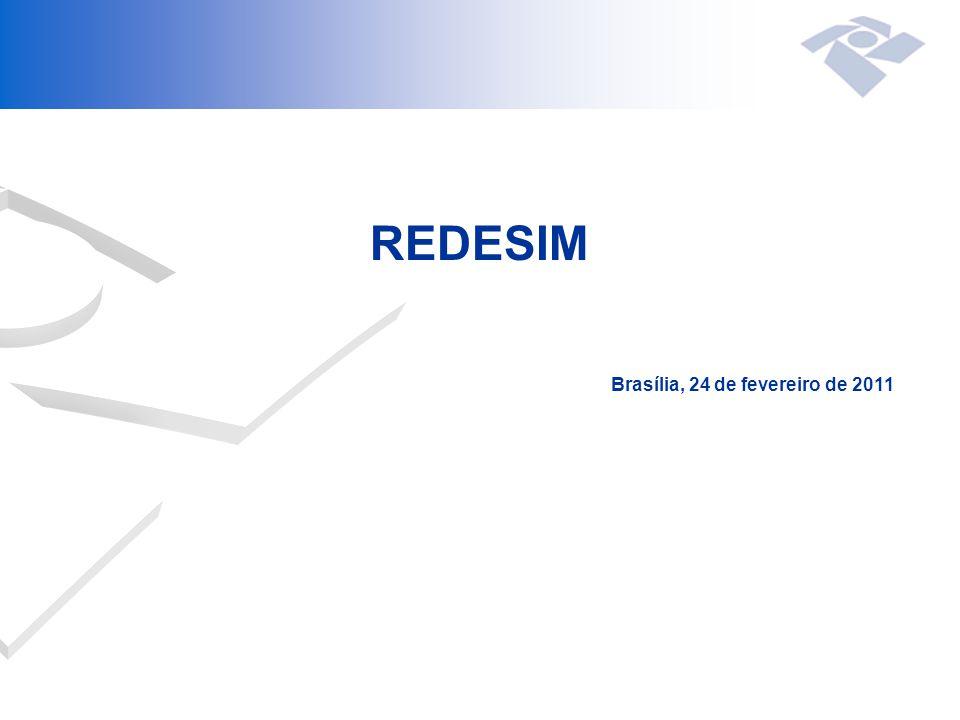 REDESIM Brasília, 24 de fevereiro de 2011
