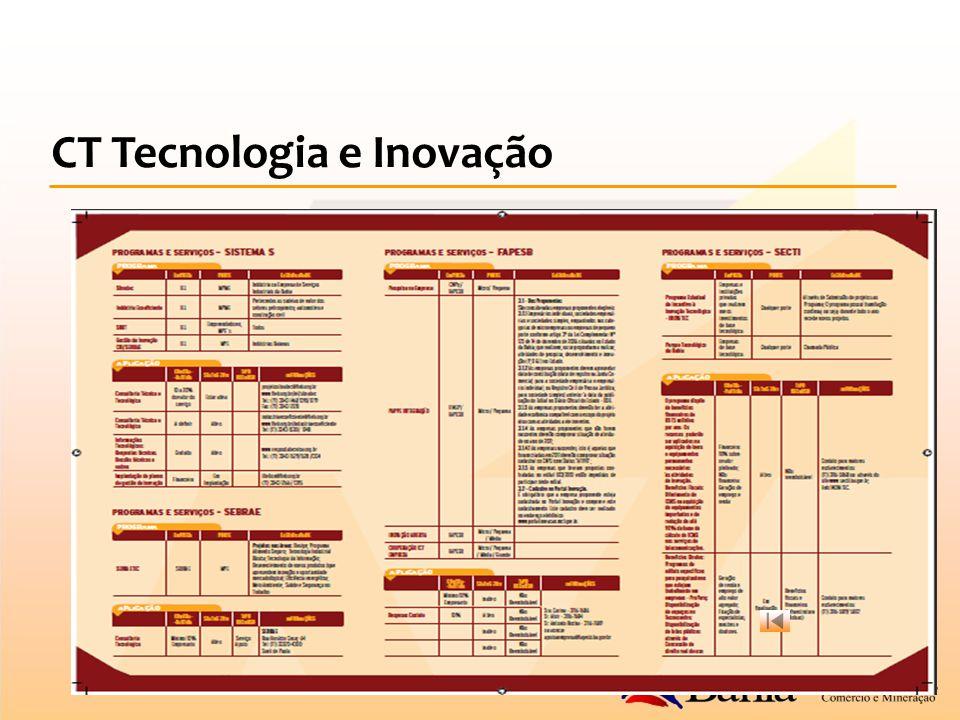 CT Tecnologia e Inovação Folder - Verso