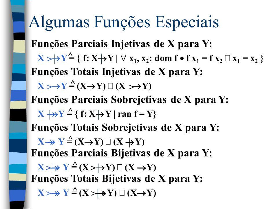 Abstrações Lambda Usada para definir uma função sem nome. Notação: |  Exemplos:  n: N  n+n = {n: N  n  (n+n)}  n: N | n  0  n-1 = {
