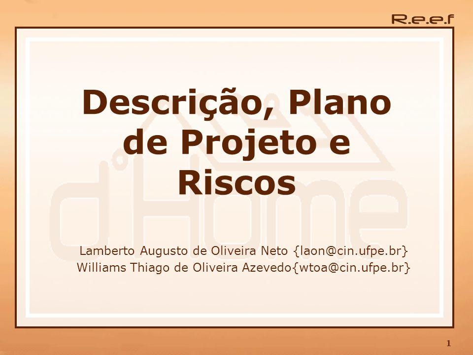 1 Descrição, Plano de Projeto e Riscos Lamberto Augusto de Oliveira Neto {laon@cin.ufpe.br} Williams Thiago de Oliveira Azevedo{wtoa@cin.ufpe.br}