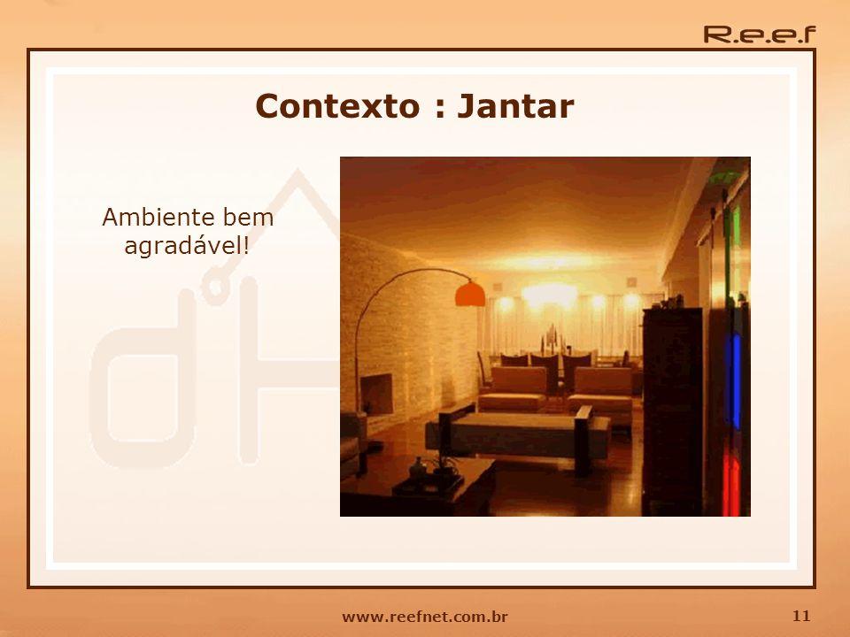 11 www.reefnet.com.br Contexto : Jantar Ambiente bem agradável!
