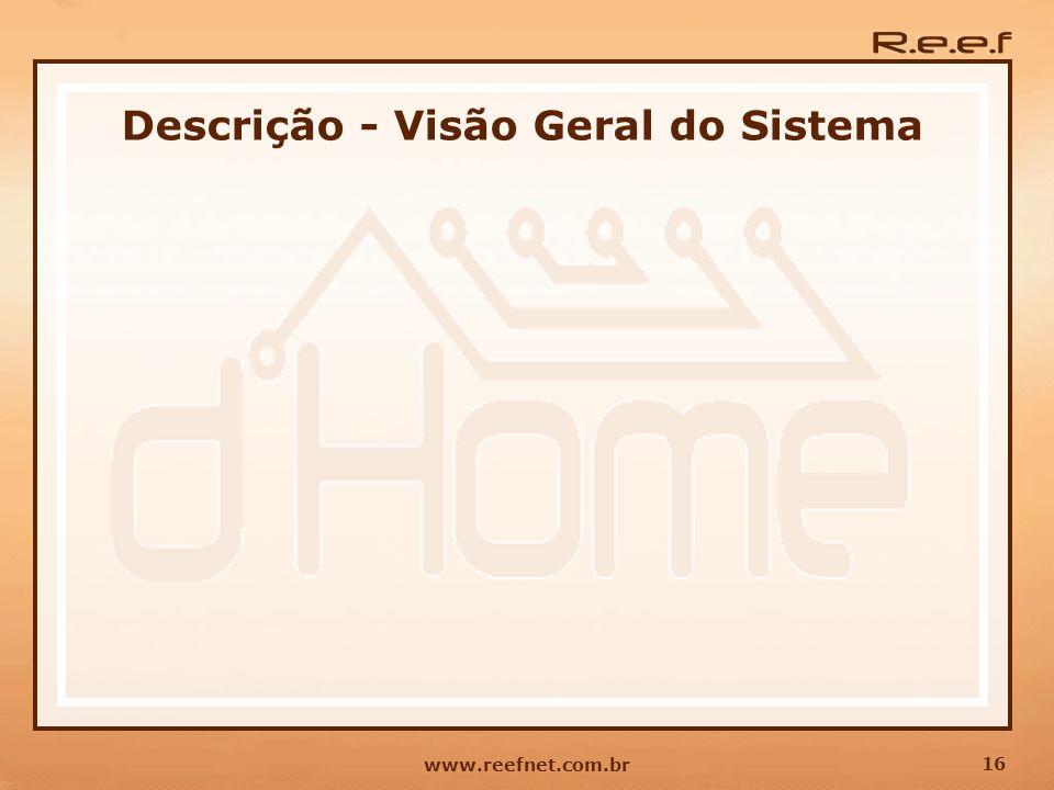 16 www.reefnet.com.br Descrição - Visão Geral do Sistema