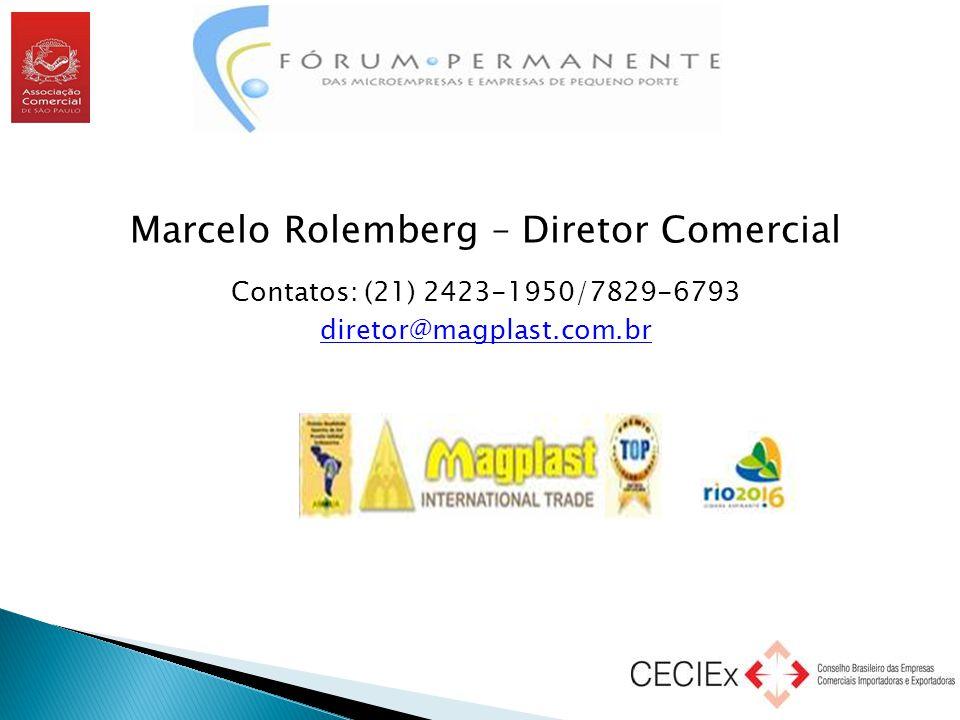 Marcelo Rolemberg – Diretor Comercial Contatos: (21) 2423-1950/7829-6793 diretor@magplast.com.br