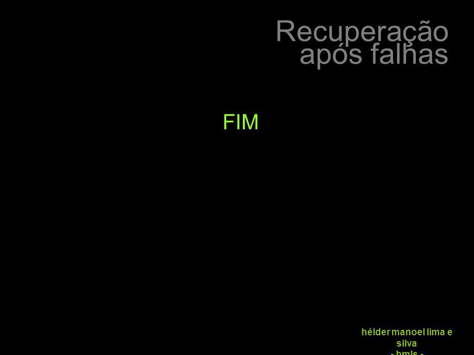 Recuperação após falhas hélder manoel lima e silva - hmls - FIM