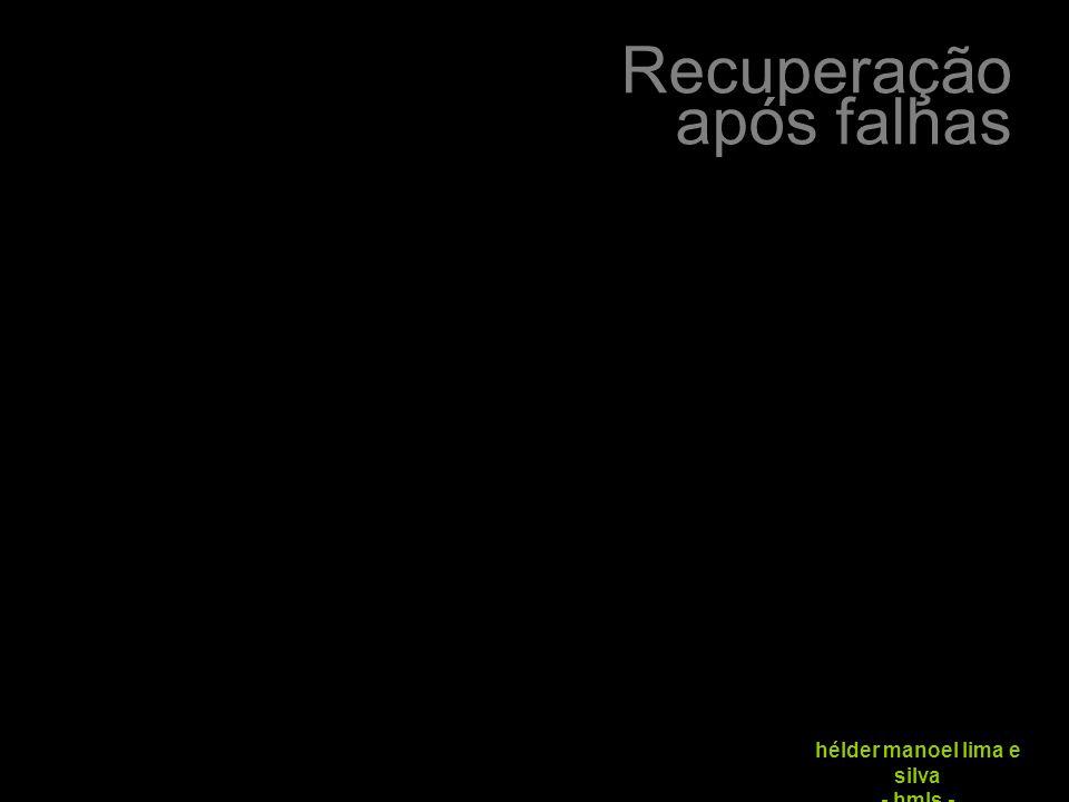 Recuperação após falhas hélder manoel lima e silva - hmls -