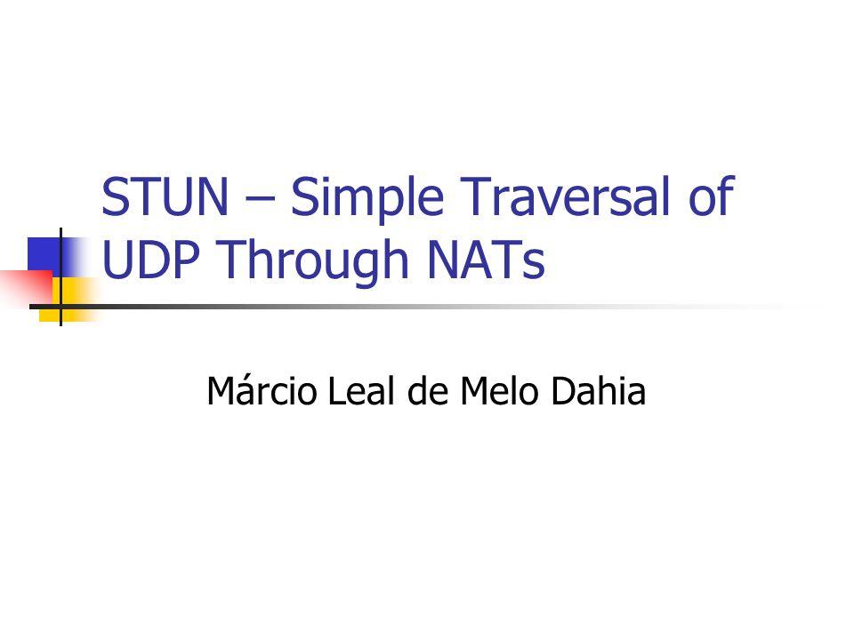 STUN – Simple Traversal of UDP Through NATs Márcio Leal de Melo Dahia