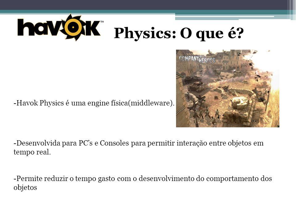 Physics: O que é.-Havok Physics é uma engine física(middleware).