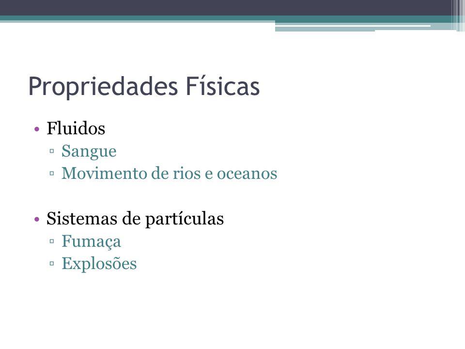 Propriedades Físicas Fluidos ▫Sangue ▫Movimento de rios e oceanos Sistemas de partículas ▫Fumaça ▫Explosões