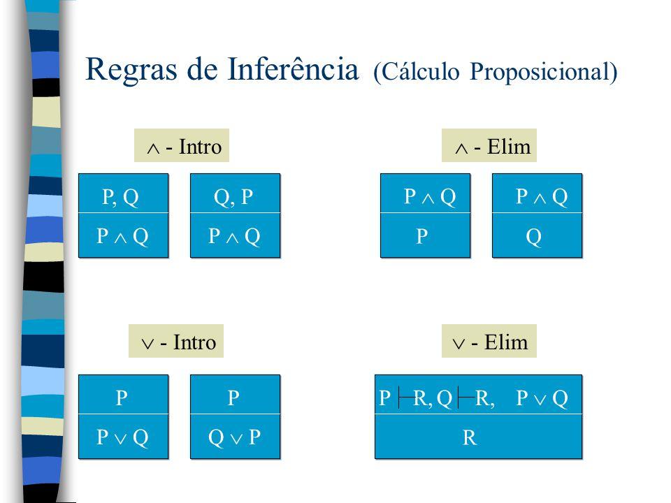 Exemplo: Cálculo Proposicional n Linguagem: sentença :: P   Q   R  ...    sentença   sentença  sentença   sentença  sentença   sentença  sentença