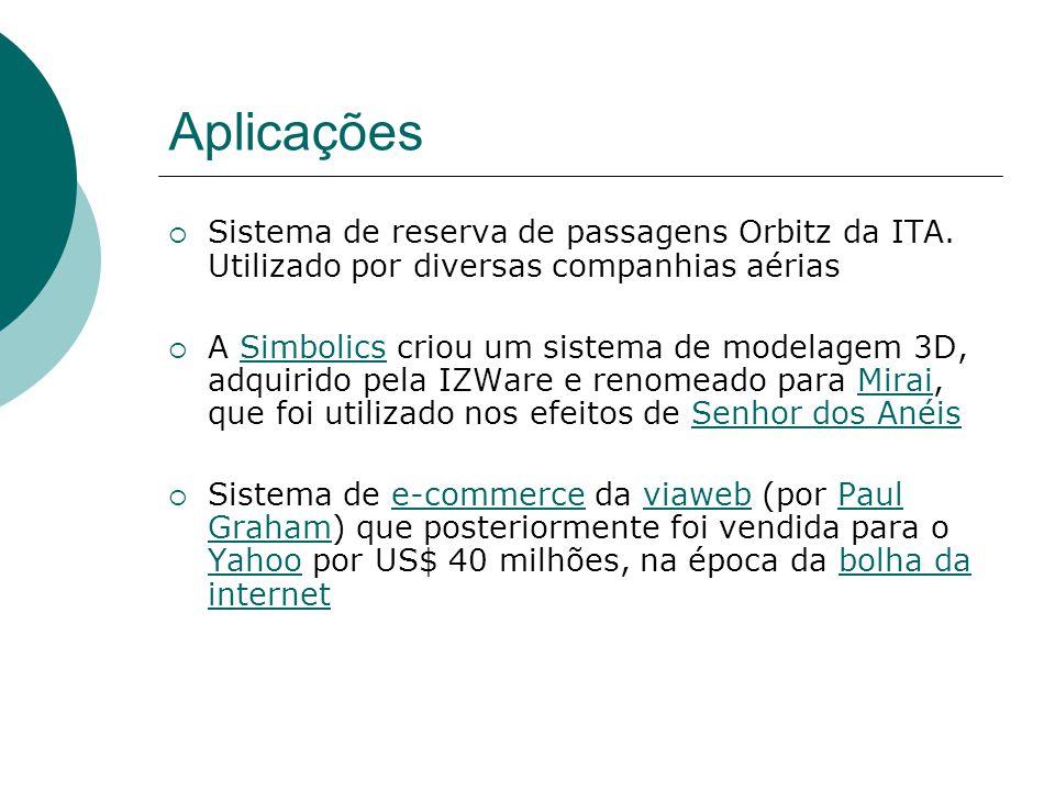 Aplicações  Sistema de reserva de passagens Orbitz da ITA.