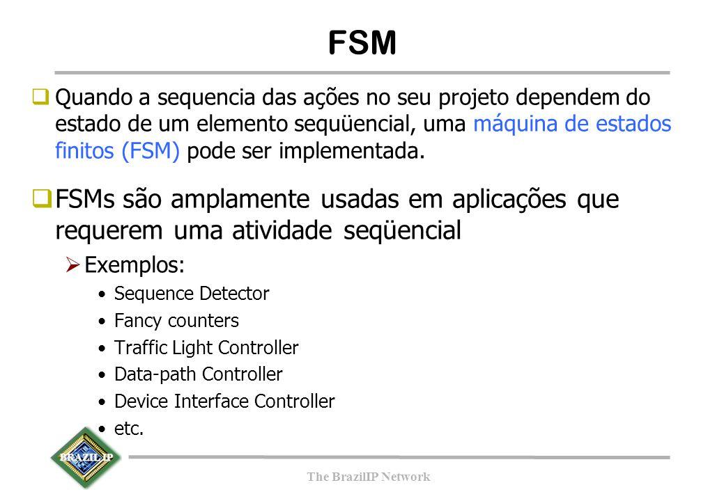 BRAZIL IP The BrazilIP Network  Quando a sequencia das ações no seu projeto dependem do estado de um elemento sequüencial, uma máquina de estados fin