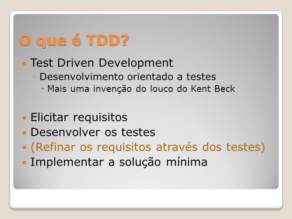 O que é TDD.