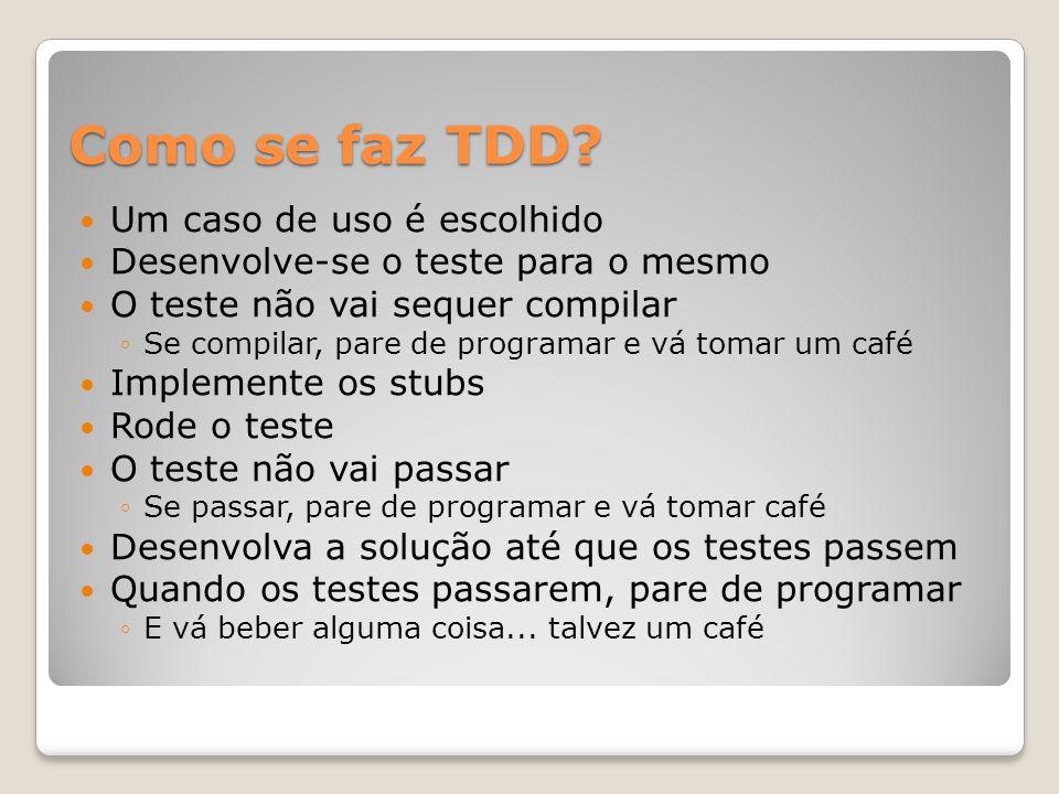 Como se faz TDD.