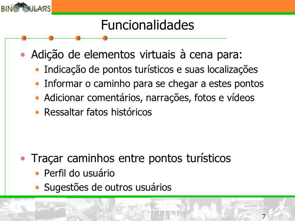 8 8 Funcionalidades Informação em duas vias Usuários Entidades envolvidas Levantamentos estatísticos Planejamento turístico