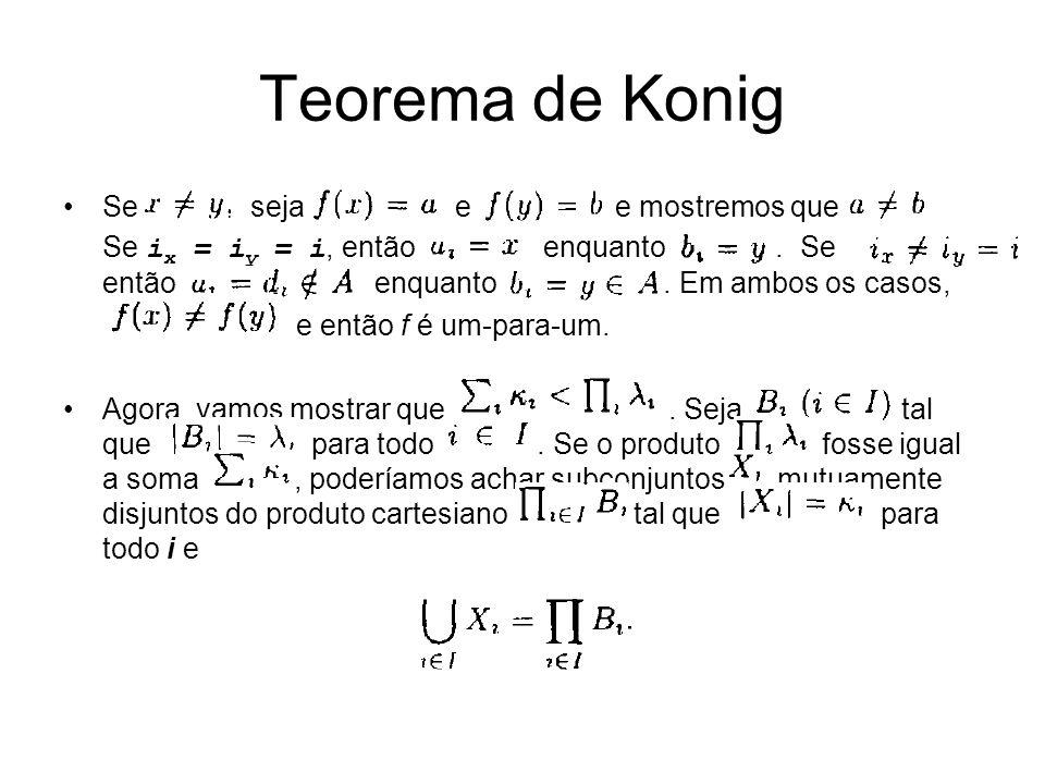 Se seja e e mostremos que Se i x = i y = i, então enquanto. Se então enquanto. Em ambos os casos, e então f é um-para-um. Agora, vamos mostrar que. Se