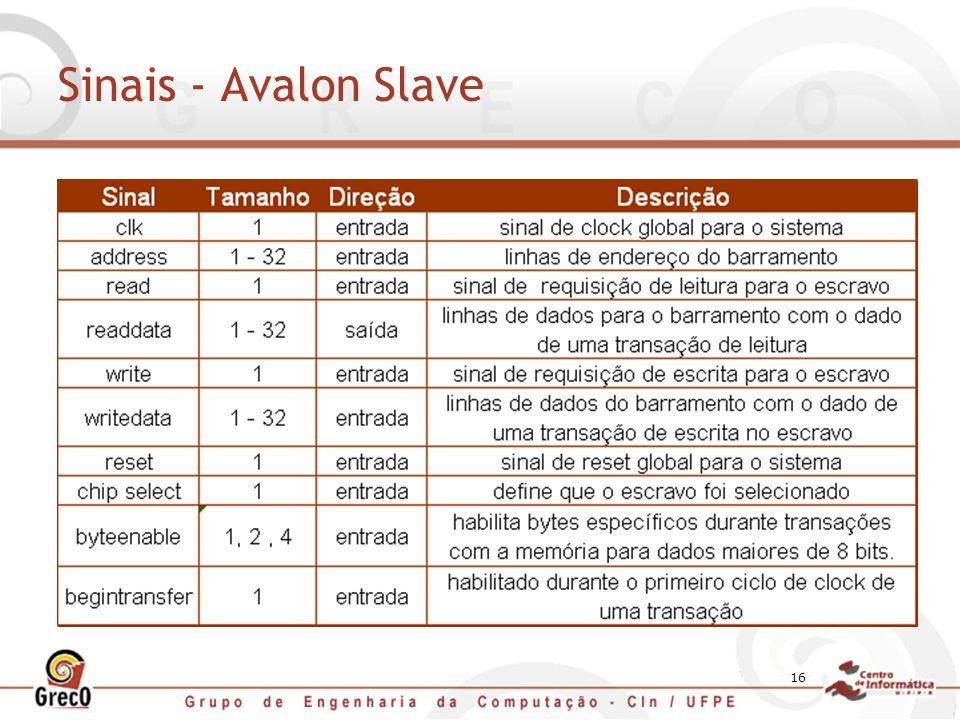 16 Sinais - Avalon Slave