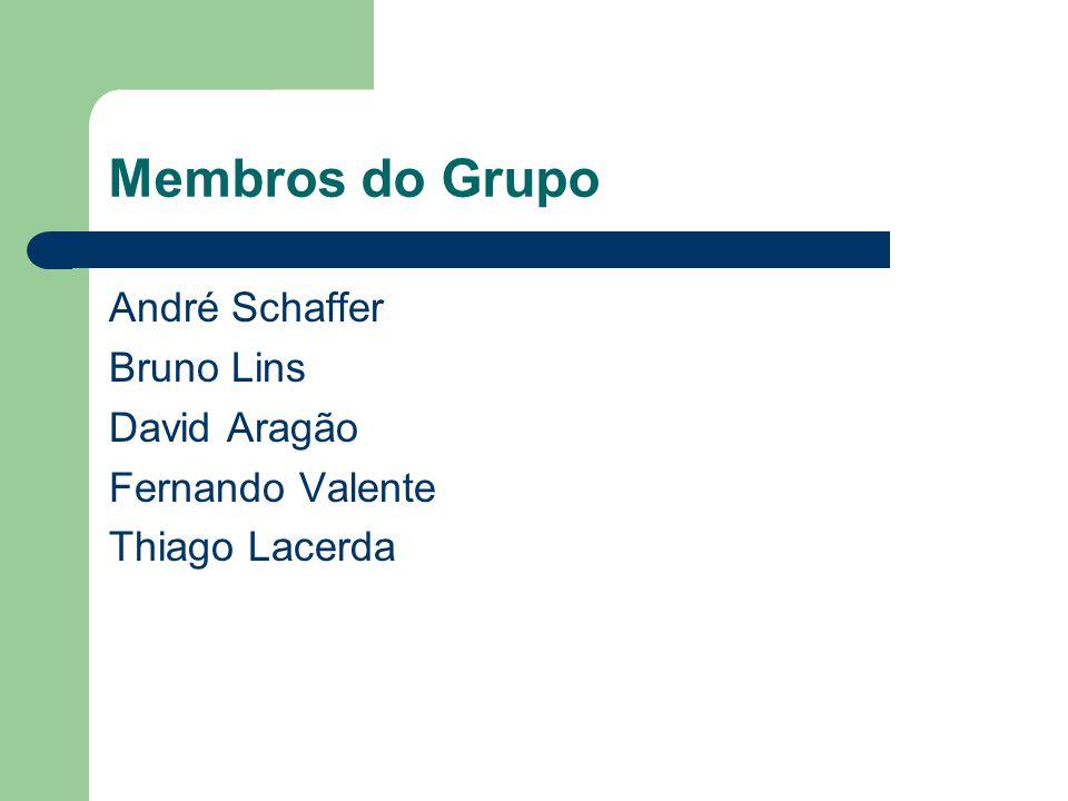 Membros do Grupo André Schaffer Bruno Lins David Aragão Fernando Valente Thiago Lacerda
