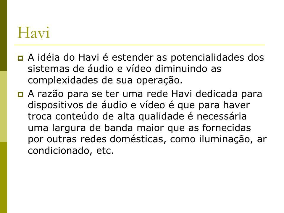 Havi  A idéia do Havi é estender as potencialidades dos sistemas de áudio e vídeo diminuindo as complexidades de sua operação.