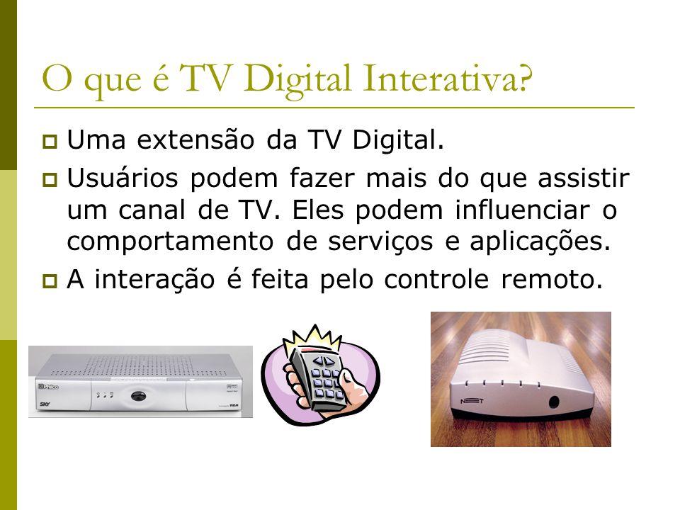 O que é TV Digital Interativa.  Uma extensão da TV Digital.